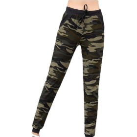 maweisong Women's Drawstrings Jogger Camouflage Stretch Pants with Pockets 1 S