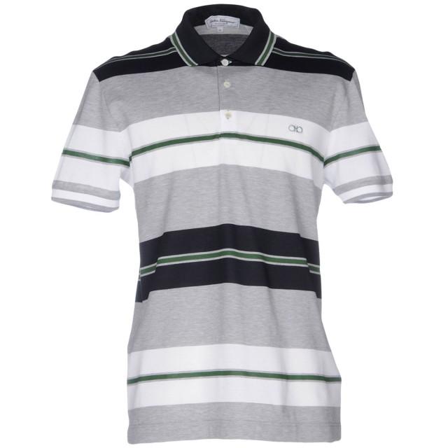 《期間限定 セール開催中》SALVATORE FERRAGAMO メンズ ポロシャツ グレー S コットン 100%