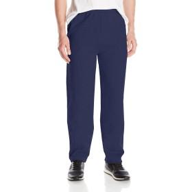 ヘインズ Hanes メンズ EcoSmart オープンレッグフリースパンツ ポケット付 US サイズ: Large カラー: ブルー