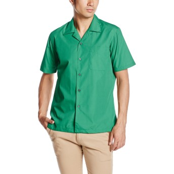 [フェイスミックス] ブロードオープンカラー半袖シャツ FB4529U メンズ グリーン 日本 LL-(日本サイズXL相当)