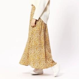 [マルイ] 小花柄フレアロングスカート/グランドパーク(GRAND PARK)