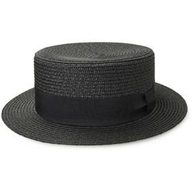 TWITS スタジオトムス カンカン帽 平天 ストローハット ot54 和服 着物 昭和 BD KANKAN (ブラック)