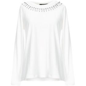《セール開催中》MY TWIN TWINSET レディース T シャツ ホワイト M コットン 95% / ポリウレタン 5% / ポリウレタン / ポリエステル