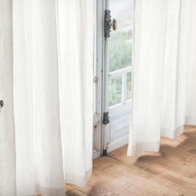 【58サイズ】心地よい透け感を味わう。素朴な風合いの綿麻ボイルカーテン