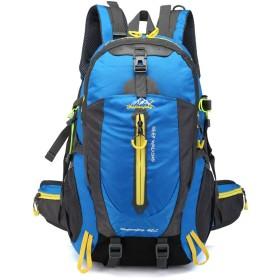 登山バッグ リュックサック バックパッカー 防災用バッグ ナップサック コンパクト 大容量 撥水加工 携帯便利 登山用品 青 ブルー 65/40L blue