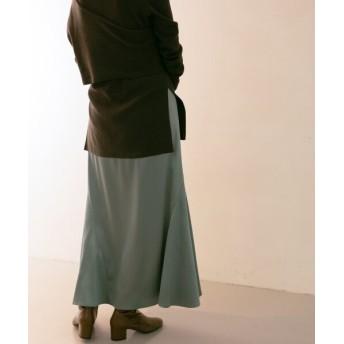【30%OFF】 ケービーエフ WEB限定 ストレッチサテンマーメイドスカート レディース BLUE one 【KBF】 【セール開催中】