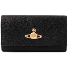 [名入れ可] ヴィヴィアンウエストウッド Vivienne Westwood 二つ折り 長財布 本革 EXECUTIVE 小銭入れあり 3118C91 ショップバッグ付き (名入れなし, ブラック)