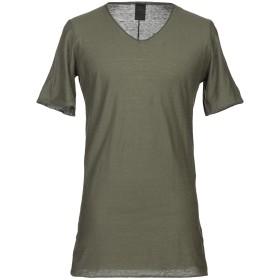 《セール開催中》10SEI0OTTO メンズ T シャツ ミリタリーグリーン L コットン 100%