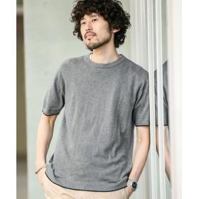 バックメッシュ編み切替えニットTシャツ 5000円以上送料無料【公式/ナノ・ユニバース】
