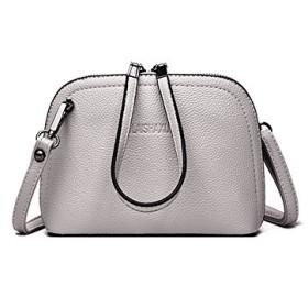 RBBB 韓版ファッション小さいバッグ新金の女性のバッグの肩の斜めのショルダーバッグ春の夏のミニの簡約の貝殻のバッグ,薄灰色