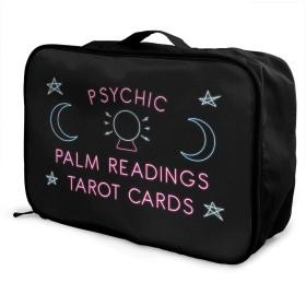 Psychic Palm Readings Tarot Cards カジュアル軽量大容量スーツケース 旅行収納荷物レバー掛包 ポータブルバッグ