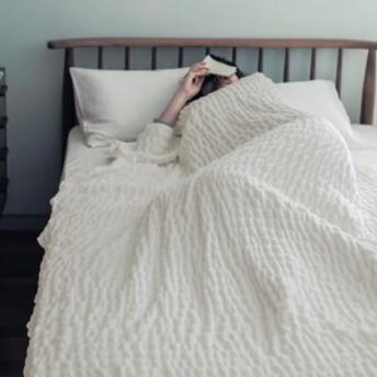 朝まで気持ちよく眠れそう。カラダに寄り添うコットンケット[日本製]
