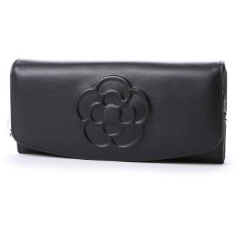 クレイサス CLATHAS ワッフル フラップ長財布 (ブラック)