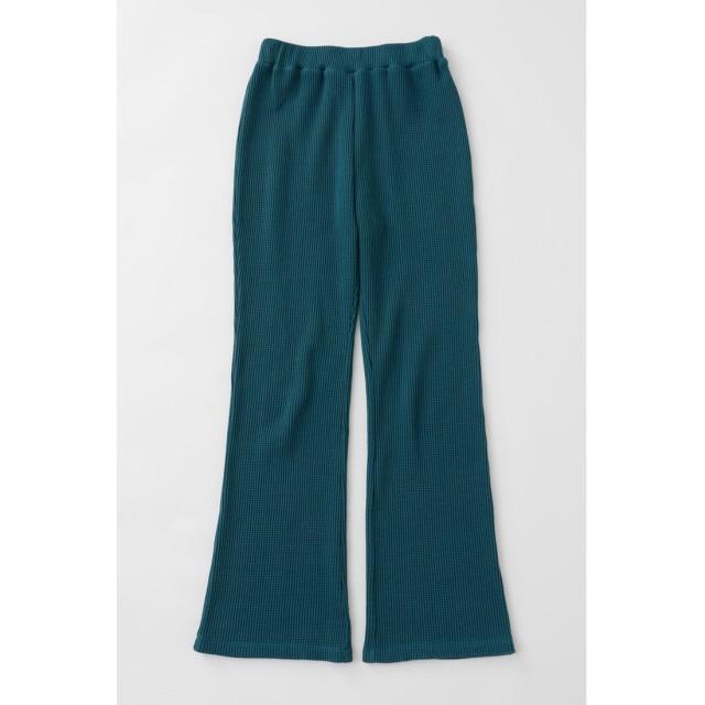 マウジー moussy THERMAL FLARE PANTS (ダークグリーン)