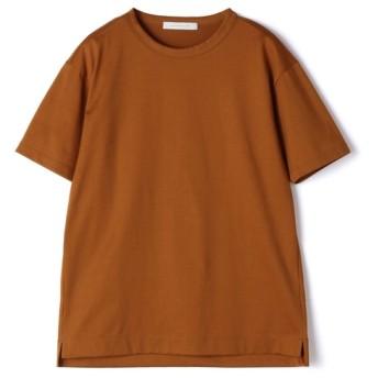 【OCEANS 11月号掲載】ESTNATION / クリスタルジャージー半袖Tシャツ ブラウン/MEDIUM(エストネーション)◆メンズ Tシャツ/カットソー