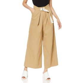 [フレッドペリー] パンツ Wide Trousers F8495 レディース 34_BEIGE UK 10 (日本サイズM相当)