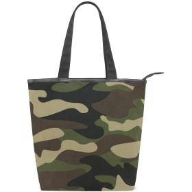 迷彩柄 トートバッグ キャンバス レディースハンドバッグ 多機能大容量 多用途ハンドバッグ 通勤通学 耐久の手提げバッグ おしゃれバッグ