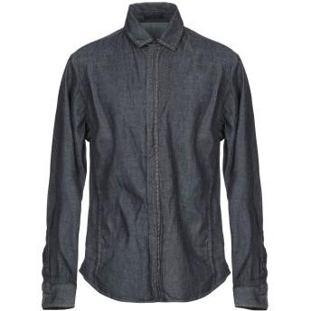 《期間限定セール開催中!》GIORGIO ARMANI メンズ デニムシャツ ブルー 42 コットン 100%