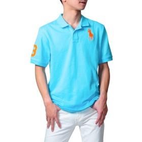 (ポロ ラルフローレン) POLO Ralph Lauren ポロシャツ S~M 相当 ボーイズサイズ ビッグポニー サックス L