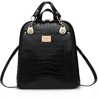 Nicole&Doris 2016年の新しい傾向のバックパックのショルダーバッグレディース女性両用カレッジ風ファッション旅行バッグ(Black)