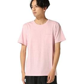 ナノ・ユニバース(nano・universe) :Anti Soaked杢クルーネックTシャツ L ピンク nano・universe