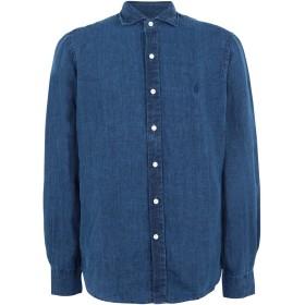 《期間限定 セール開催中》POLO RALPH LAUREN メンズ デニムシャツ ブルー L 麻 100% Classic Fit Indigo Linen Shirt