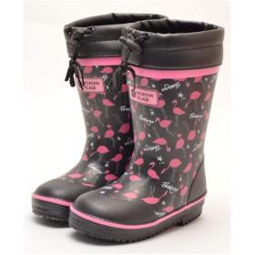 【防寒長靴】MOUNTAIN VILLAGE キッズ 防寒 長靴 スパイク付き RB267SP ブラック 18.0cm