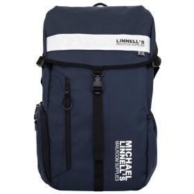 [マイケルリンネル]MICHAEL LINNELL リュック リュックサック デイパック スクエア フラップ メンズ レディース ML-008 linnell-001 (ネイビー/ホワイト)