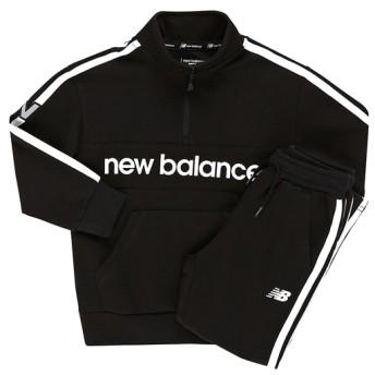 (NB公式) ≪ログイン購入で最大8%ポイント還元≫ スウェットセットアップ (BK ブラック) ニューバランス newbalance