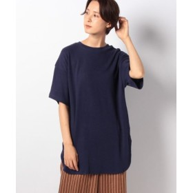 (koe/コエ)ハニカム5分袖チュニック/レディース ブルー