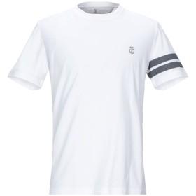 《期間限定セール開催中!》BRUNELLO CUCINELLI メンズ T シャツ ホワイト M コットン 100%