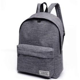 VWHキャンバスバックパックラップトップコンピュータバッグ収納袋ポータブルトラベルバッグ女性用男性(グレー)