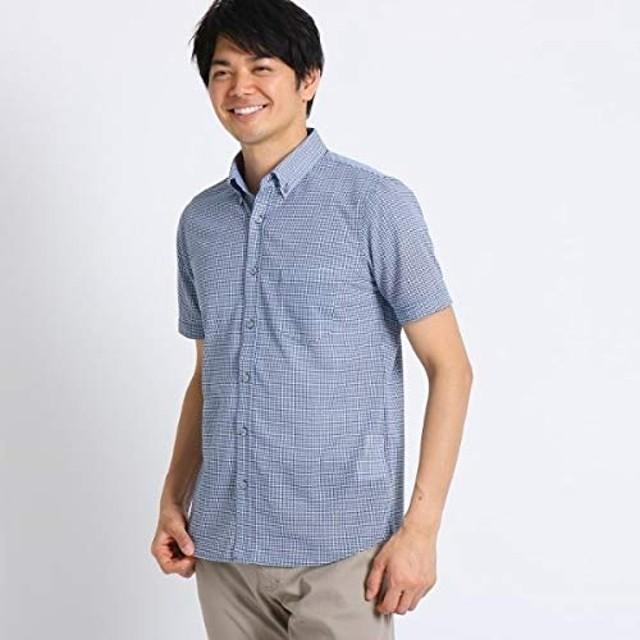 タケオキクチ(TAKEO KIKUCHI) [吸汗速乾 ドライタッチ]番千鳥柄 前開きポロシャツ【ブルー(492)/01(S)】