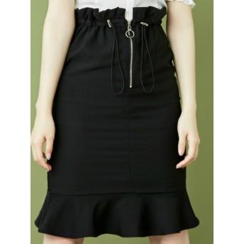 ミニスカート - EATME FRONTジップマーメイドスカート