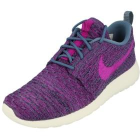Nike Womens Rosherun Flyknit Running Trainers 704927 Sneakers Shoes (Uk 4 Us 6.5 Eu 37.5, Ocean Fog Navy Simmit 405)
