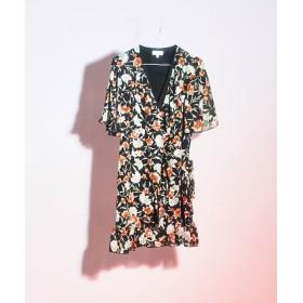 【公式/ナノ・ユニバース】Wrap Dress With Split Sleeves 5000円以上送料無料【GHOSPELL】