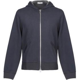 《期間限定セール開催中!》PAOLO PECORA メンズ スウェットシャツ ダークブルー S コットン 100% / バージンウール / ポリウレタン / アクリル / ナイロン
