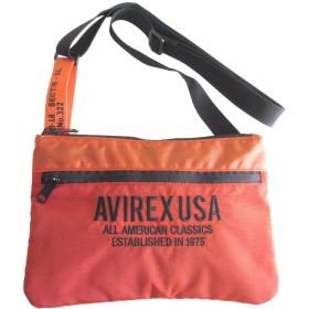 [アヴィレックス] AVIREX ショルダーバッグ サコッシュ ペットボトル入る オレンジ