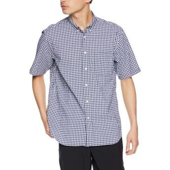 [ザ・ノース・フェイス] シャツ ショートスリーブヒデンバリーシャツ メンズ NR21967 ネイビーギンガム 日本 L (日本サイズL相当)