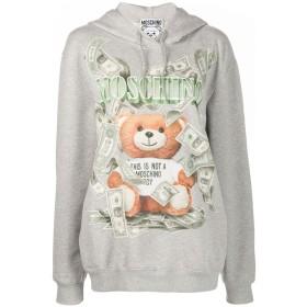 Moschino teddy bear print hooded sweater - グレー