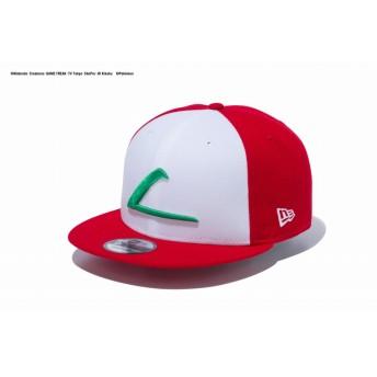 【ニューエラ公式】 9FIFTY ポケモン サトシ キャップ オプティックホワイト スカーレット × ベジグリーン メンズ レディース 57.7 - 61.5cm キャップ 帽子 12119321 コラボ NEW ERA