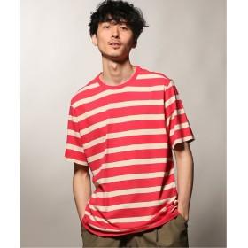 ジャーナルスタンダード POP TRADING COMPANY / ポップトレーディングカンパニー BIG STRIPE Tシャツ メンズ ピンク M 【JOURNAL STANDARD】