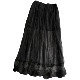 Tootess 女性の透明なボディコンメッシュのセクシーなレースの裾ラインロングスカート 7 One-Size