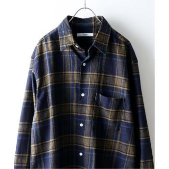 ジャーナルスタンダード インディゴチェック レギュラーシャツ メンズ ベージュ L 【JOURNAL STANDARD】