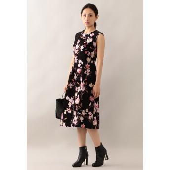 EPOCA マグノリアモールジャガード ドレス ワンピース,ブラック