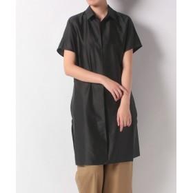アン レクレ サイドスリットロングシャツ レディース ブラック 2 【en recre】