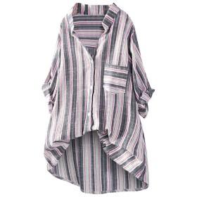 ストライプ柄 tシャツ レディース トップス Kohore 半袖 大きいサイズ 上着 無地 カットソー ブラウス 事務服 ポロシャツ 体型カバー タンクトップ 花柄 おしゃれ ゆったり カジュアル 日韓風 シンプル キャミソール デート
