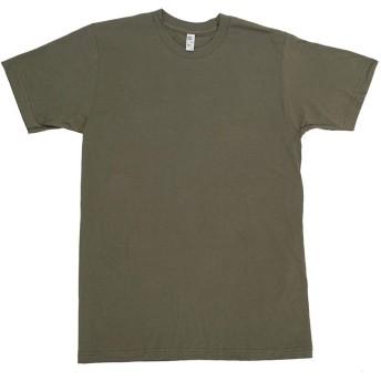 LOS ANGELES APPAREL Tシャツ ロサンゼルスアパレル 半袖Tシャツ FINE CLASSIC FINE COTTON JERSEY T-SHIRT ストリート (XL, ARMY)