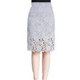 SUNNUY レディース 大きいサイズ スカート 花柄 Sサイズ フォマール グレー 春夏 ひさ丈 Aライン レース ひざ丈 フレアパンツ ハイウェスト 透ける グレー XL