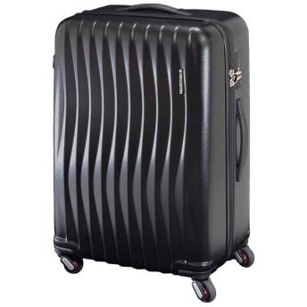 カバンのセレクション フリクエンター ウェーブ スーツケース 受託手荷物規定内 軽量 静音 交換キャスター Lサイズ 89L FREQUENTER WAVE 1 624 ユニセックス ブラック 在庫 【Bag & Luggage SELECTION】